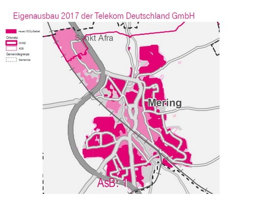 Telekom Glasfaserausbau Karte.Breitbandausbau Mering